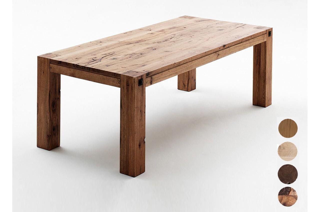 Table En Bois Chene Clair table de ferme moderne chêne massif pour salle à manger