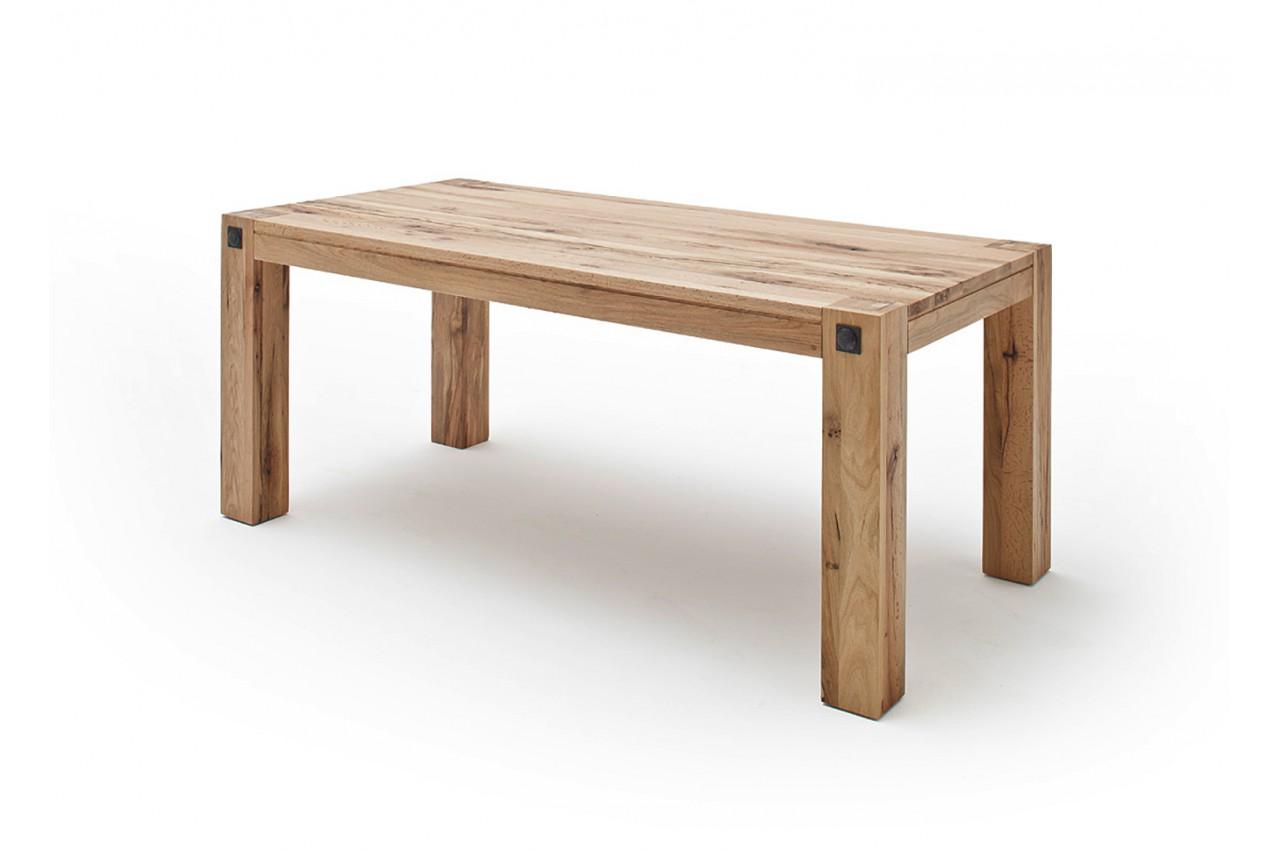 Table de ferme moderne ch ne massif pour table de repas - Table en chene massif moderne ...