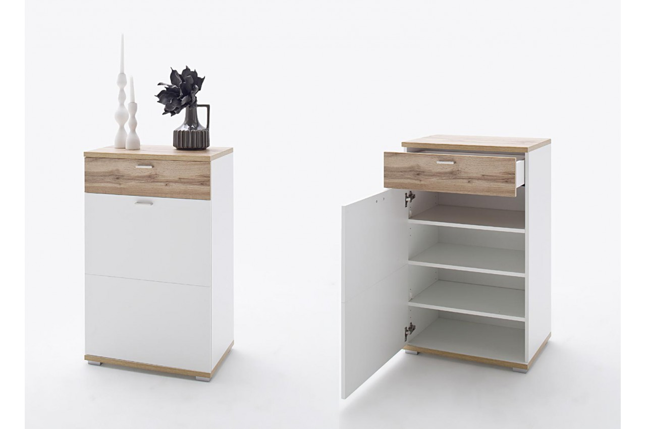 meuble d 39 entr e vestiaire design blanc bois novomeuble. Black Bedroom Furniture Sets. Home Design Ideas