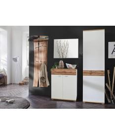 Ensemble D'entrée & Vestiaire Design Blanc & Bois