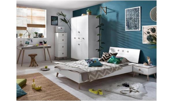 Chambre Ado Moderne Blanche et Bois pour chambre enfant & ado