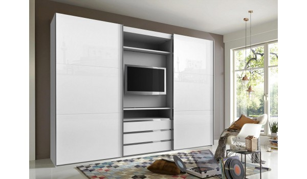 armoire dressing avec emplacement tv novomeuble. Black Bedroom Furniture Sets. Home Design Ideas