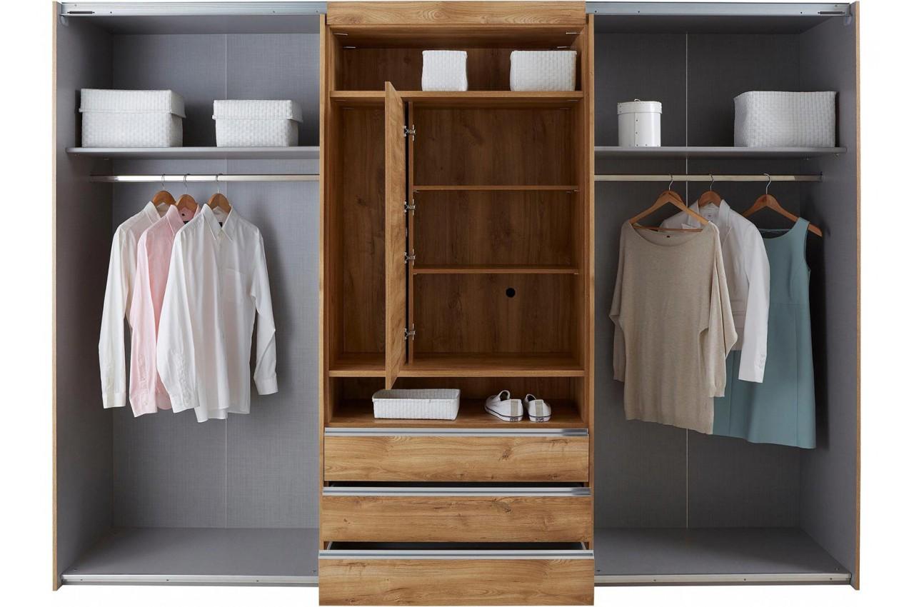 Armoire dressing avec emplacement tv pour chambre adulte - Armoire suspendue chambre ...