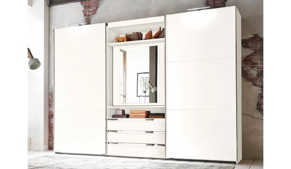 Armoire de Chambre avec Miroir Rotatif à 180°