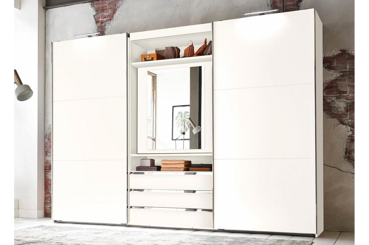 Armoire de chambre avec miroir rotatif 180 pour chambre adulte - Miroir de chambre ...