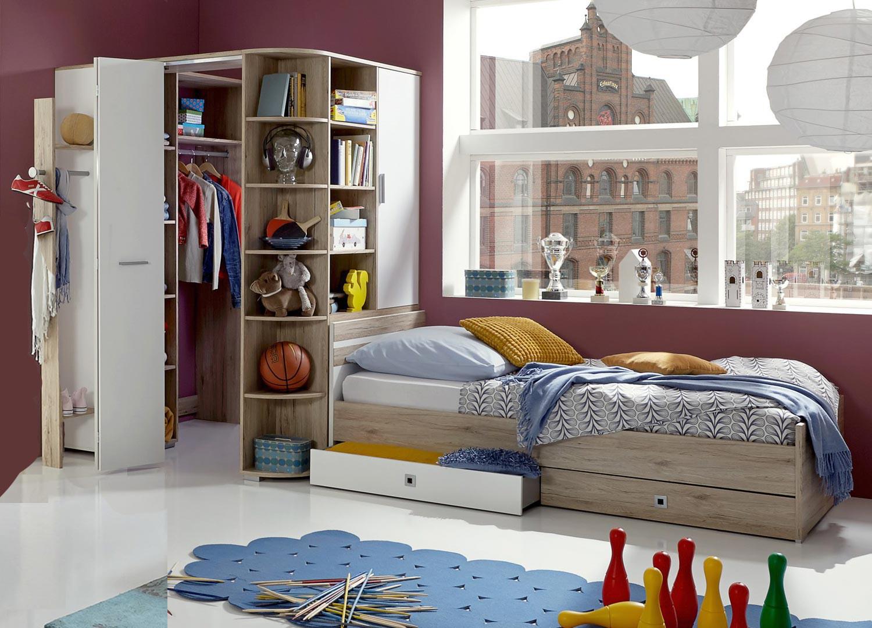 Armoire D Angle Dressing lit simple et armoire dressing d'angle pour chambre enfant & ado