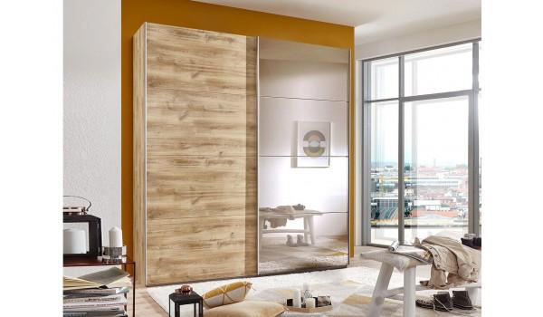 armoire dressing bois et miroir novomeuble. Black Bedroom Furniture Sets. Home Design Ideas