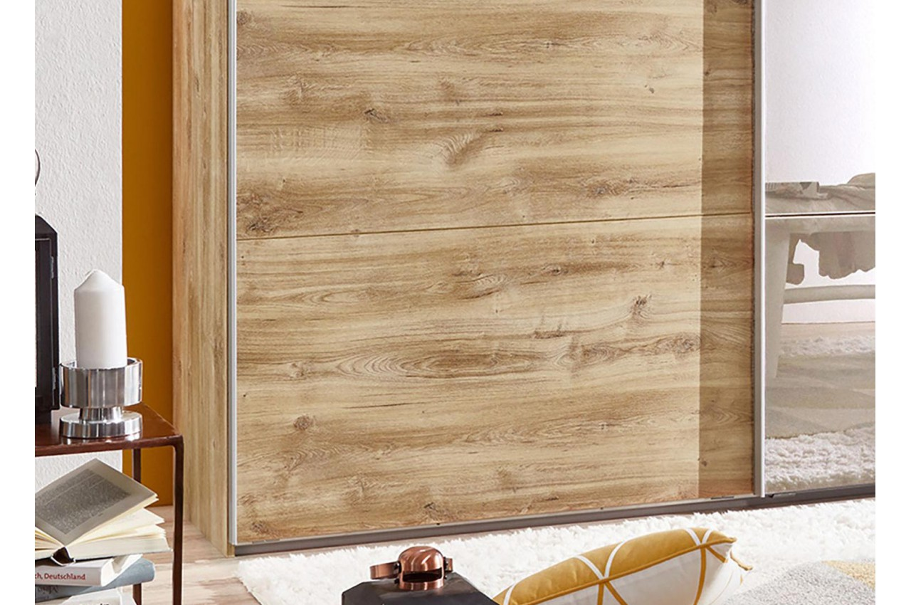 armoire dressing bois et miroir pour chambre adulte. Black Bedroom Furniture Sets. Home Design Ideas