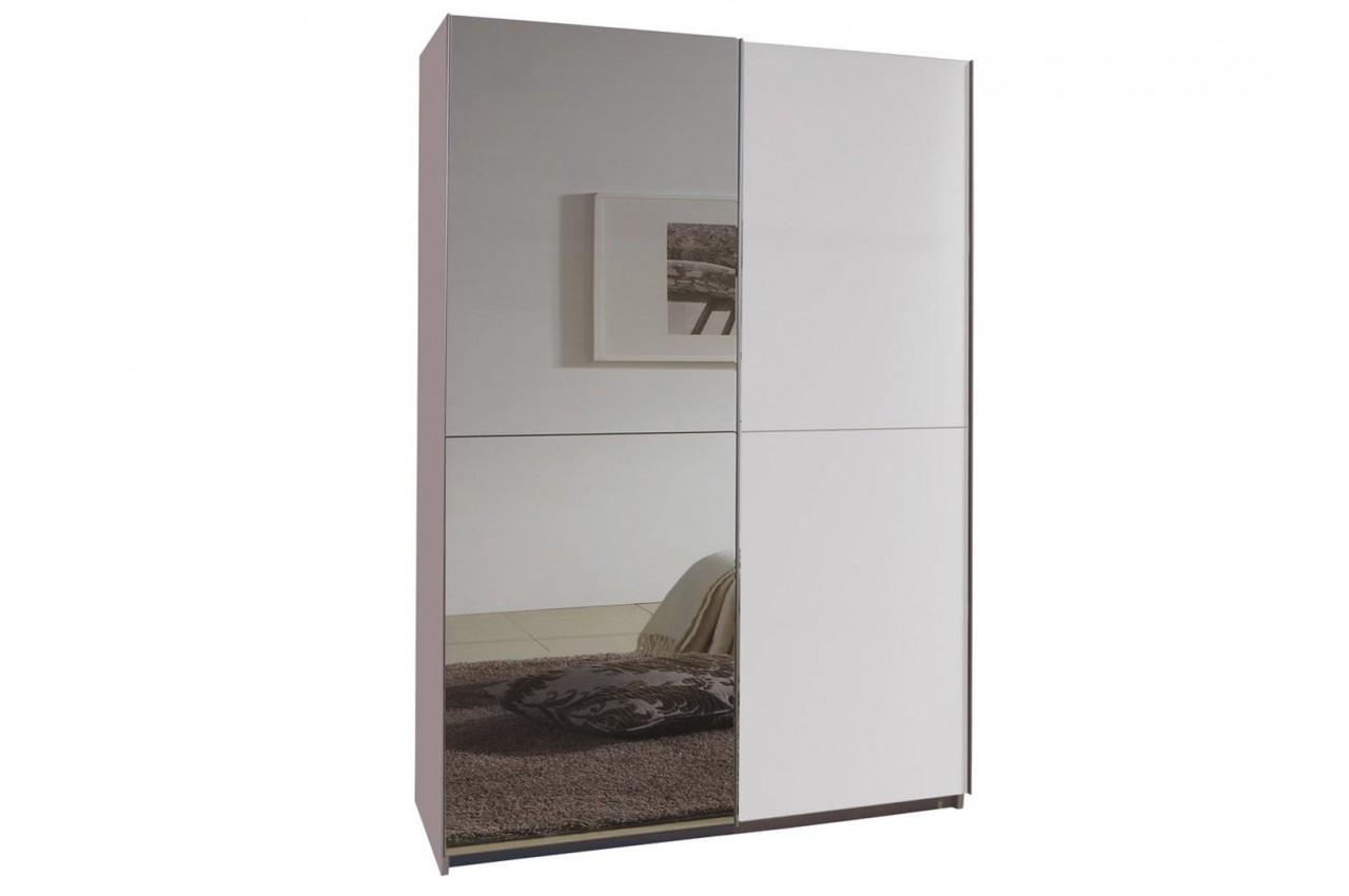 armoire miroir porte coulissante 135 cm pour armoire dressing. Black Bedroom Furniture Sets. Home Design Ideas