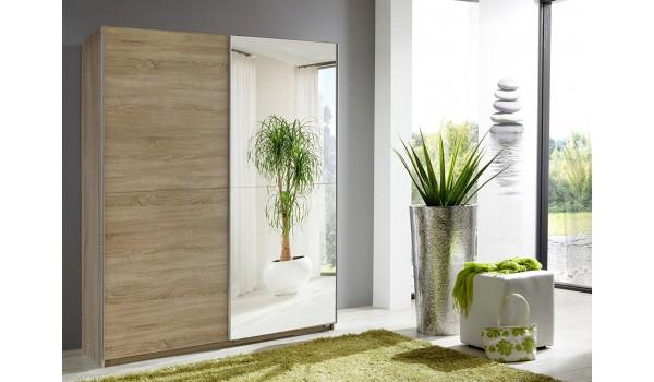 Armoire Miroir Porte coulissante 135 cm pas cher