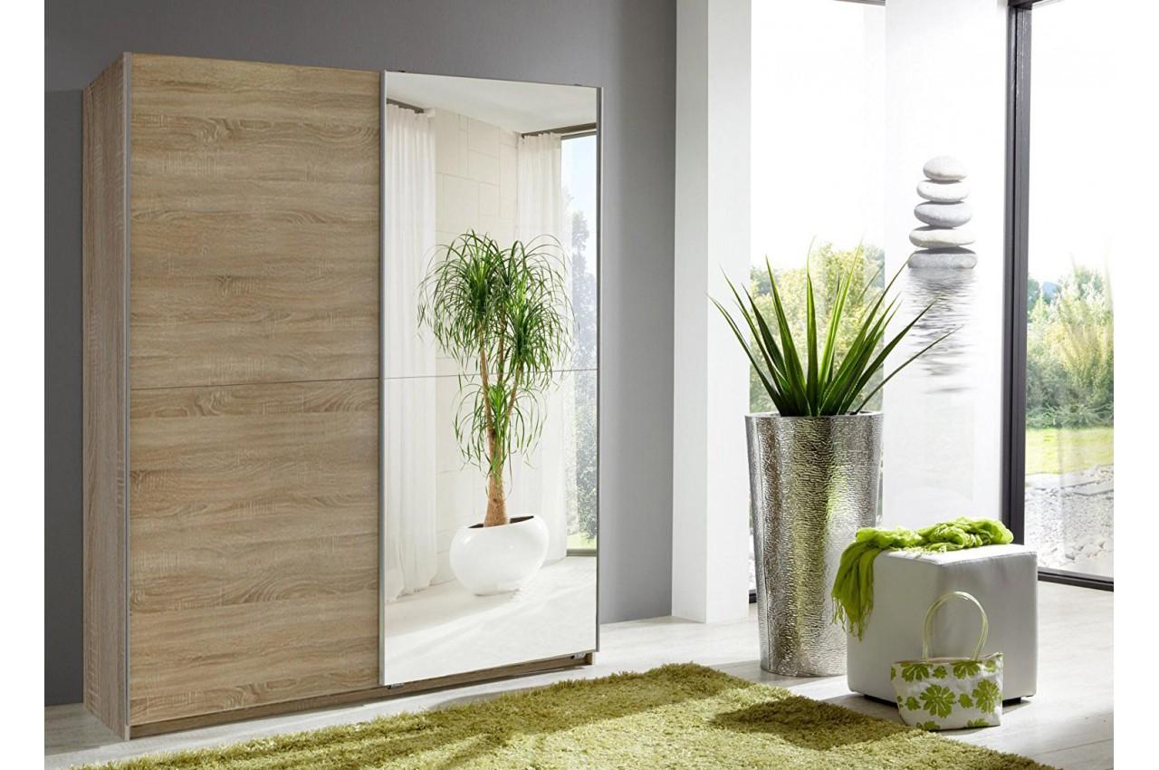 Armoire Miroir Porte coulissante 135 cm pas cher pour ...