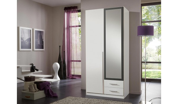 armoire dressing pas cher avec miroir novomeuble. Black Bedroom Furniture Sets. Home Design Ideas