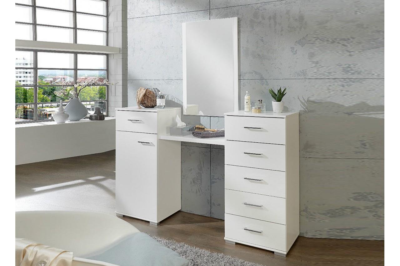 Coiffeuse avec miroir meuble de chambre pour commode - Miroir de chambre ...