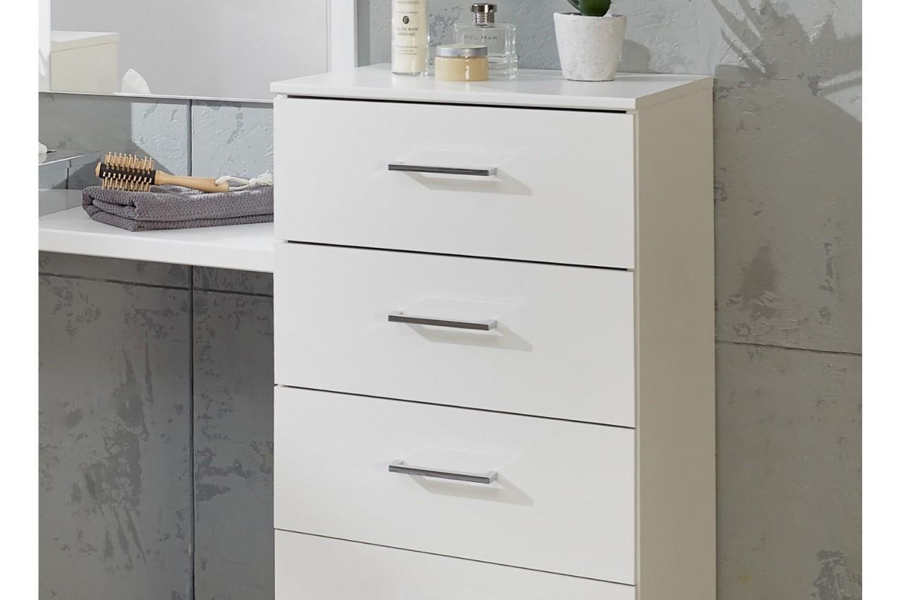 coiffeuse avec miroir meuble de chambre pour commode. Black Bedroom Furniture Sets. Home Design Ideas