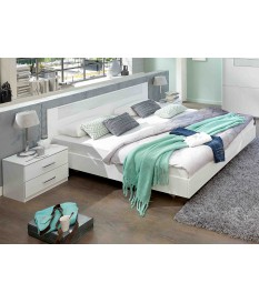 Lit 2 Places Blanc 140x200 cm - Chambre Adulte