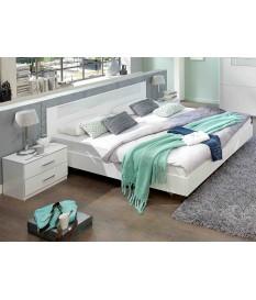 Lit 160x200 cm Blanc - Chambre Adulte