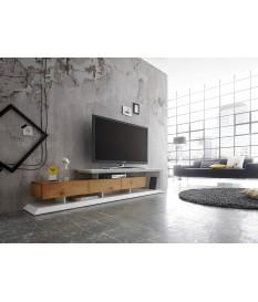 Meuble TV Design laqué Blanc & Bois