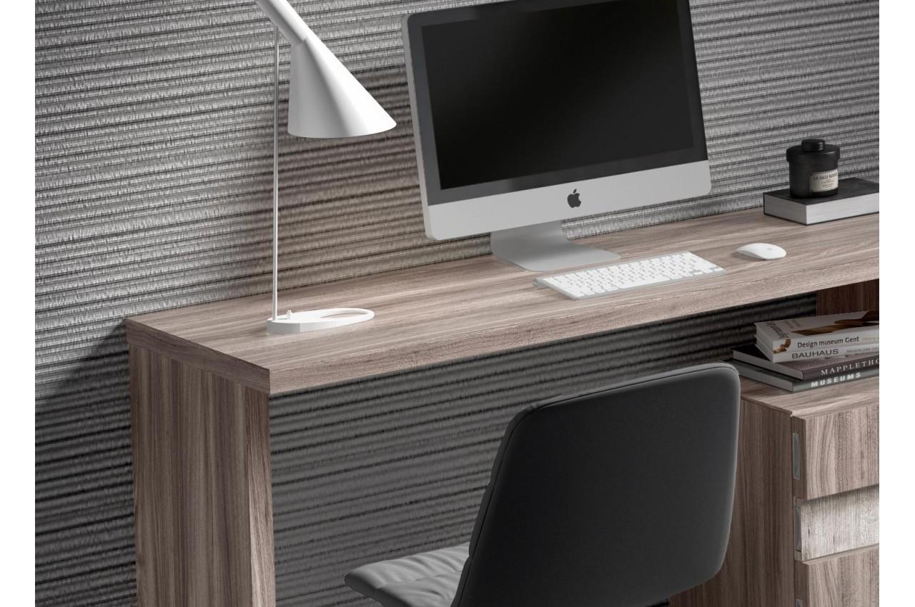 Bureau design en bois poirier et fr ne for Meuble bureau design contemporain