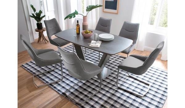 Table Céramique Grise Extensible