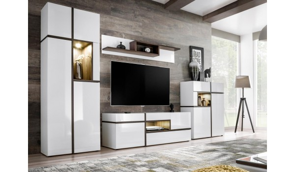 Meuble TV Complet Design Blanc