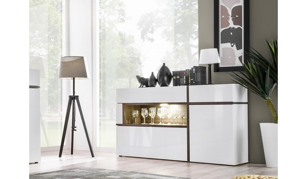 Meuble Buffet Design Blanc & Bois