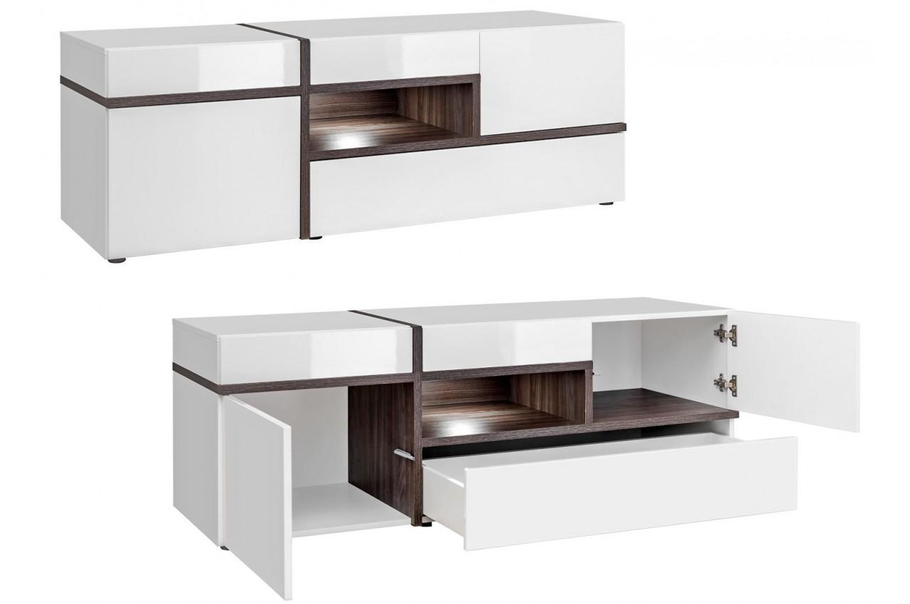 meuble salon complet design blanc amp bois novomeuble