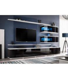 Meuble TV Design Led Noir et Blanc