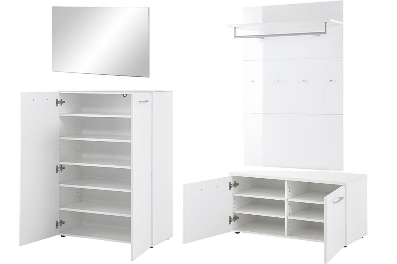 meuble d 39 entr e blanc pour rangement entr e. Black Bedroom Furniture Sets. Home Design Ideas