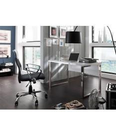Table de bureau blanc laqué design