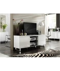 Meuble TV blanc laqué design