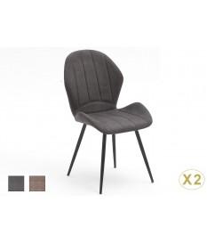 Chaise en tissu design pas cher- Coloris grise ou sable