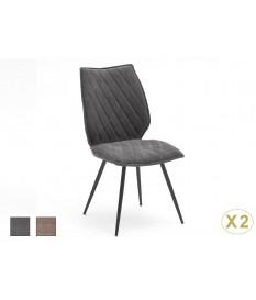 Chaise design en tissu pas cher - Tissu gris ou sable