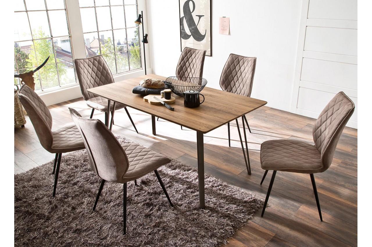 table rectangulaire pas cher bois m tal pour salle manger
