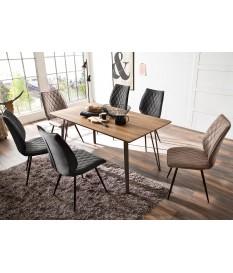 Table rectangulaire pas cher - Bois & métal