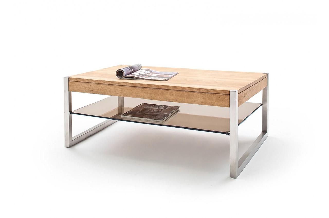 Table basse rectangulaire pas cher - Bois massif - Verre et ...