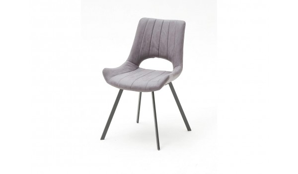 Chaise design en tissu pas cher - Grise ou sable