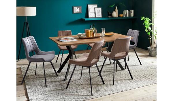 Table en bois rectangulaire pas cher