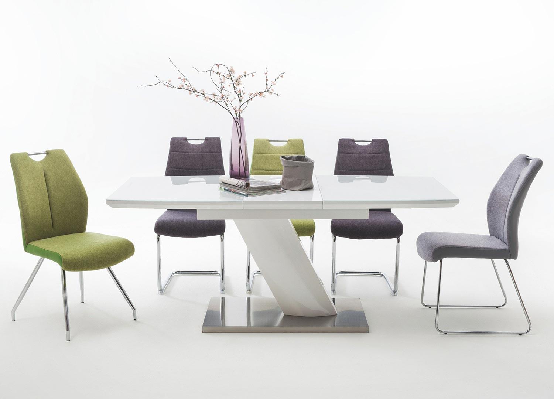 Table Blanche Pied Bois table blanche design pour salle à manger