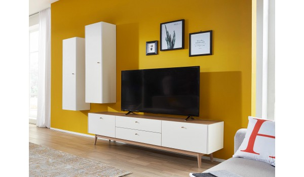 meuble tv scandinave et colonne murale pour salon. Black Bedroom Furniture Sets. Home Design Ideas