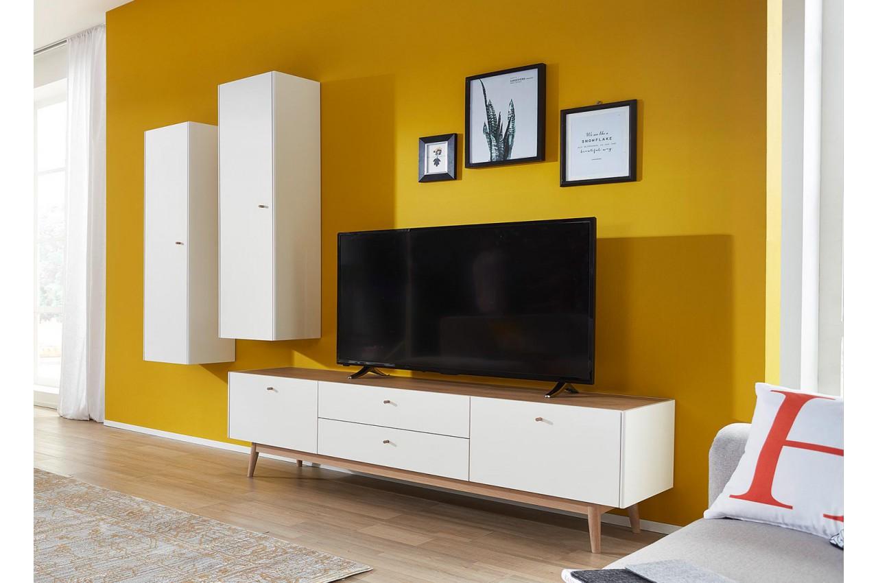 meuble tv scandinave et colonne murale pour salon. Black Bedroom Furniture Sets. Home Design Ideas