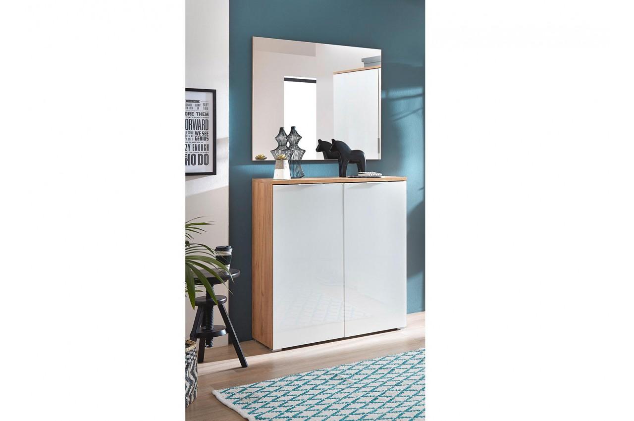 meuble chaussures blanc et bois entr e couloir pour meuble chaussures. Black Bedroom Furniture Sets. Home Design Ideas