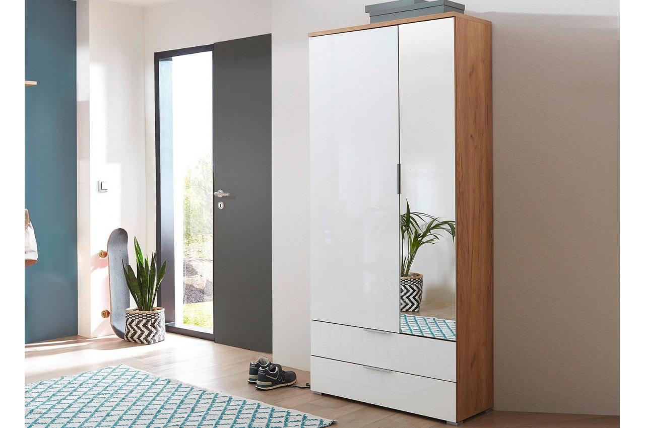dressing et rangement blanc et bois pour rangement entr e. Black Bedroom Furniture Sets. Home Design Ideas