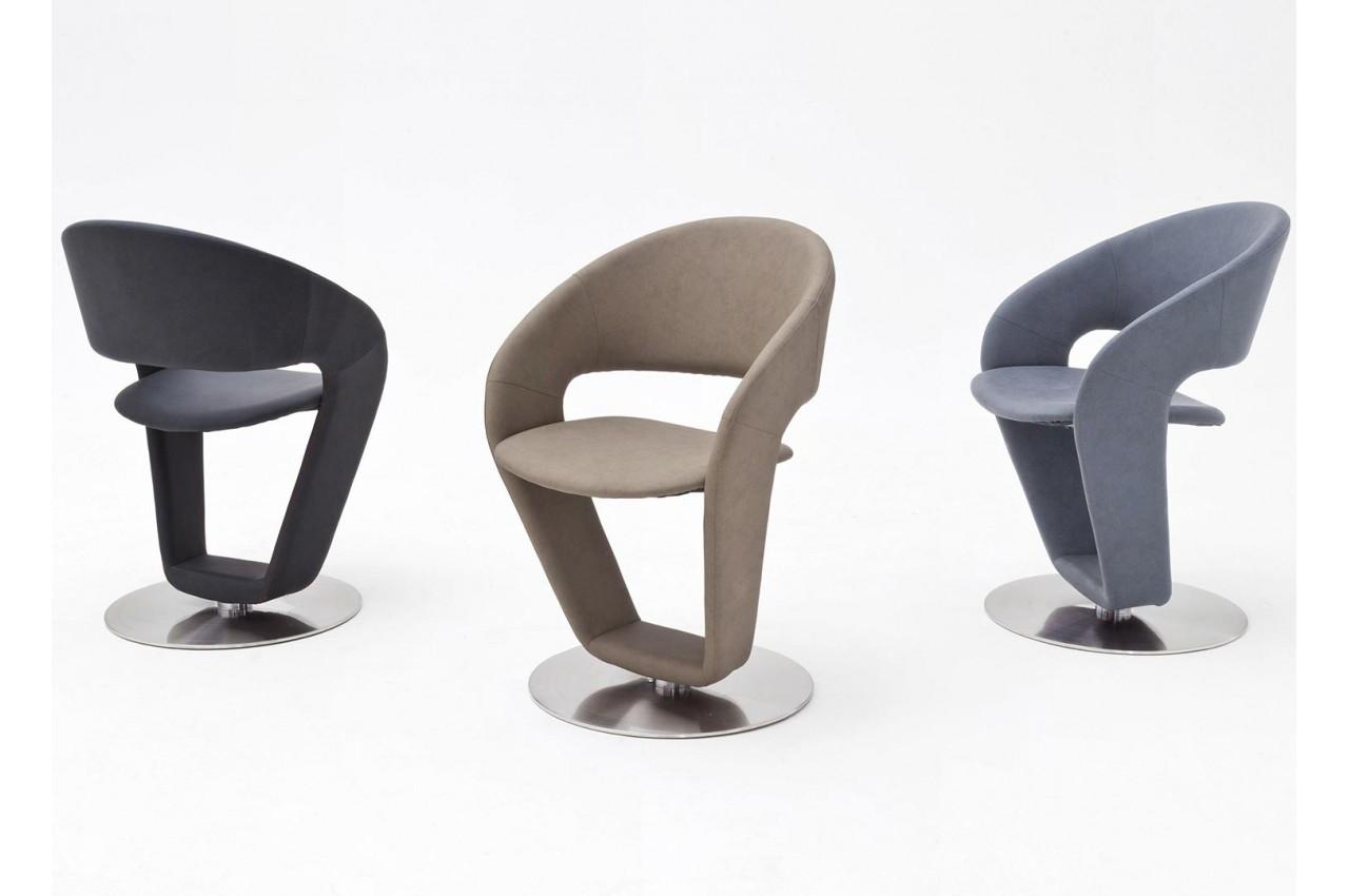 Chaise de table design pivotante pour salle à manger