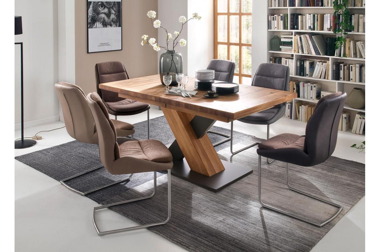 Table à manger bois massif extensible /+ 6 Personnes pour salle à