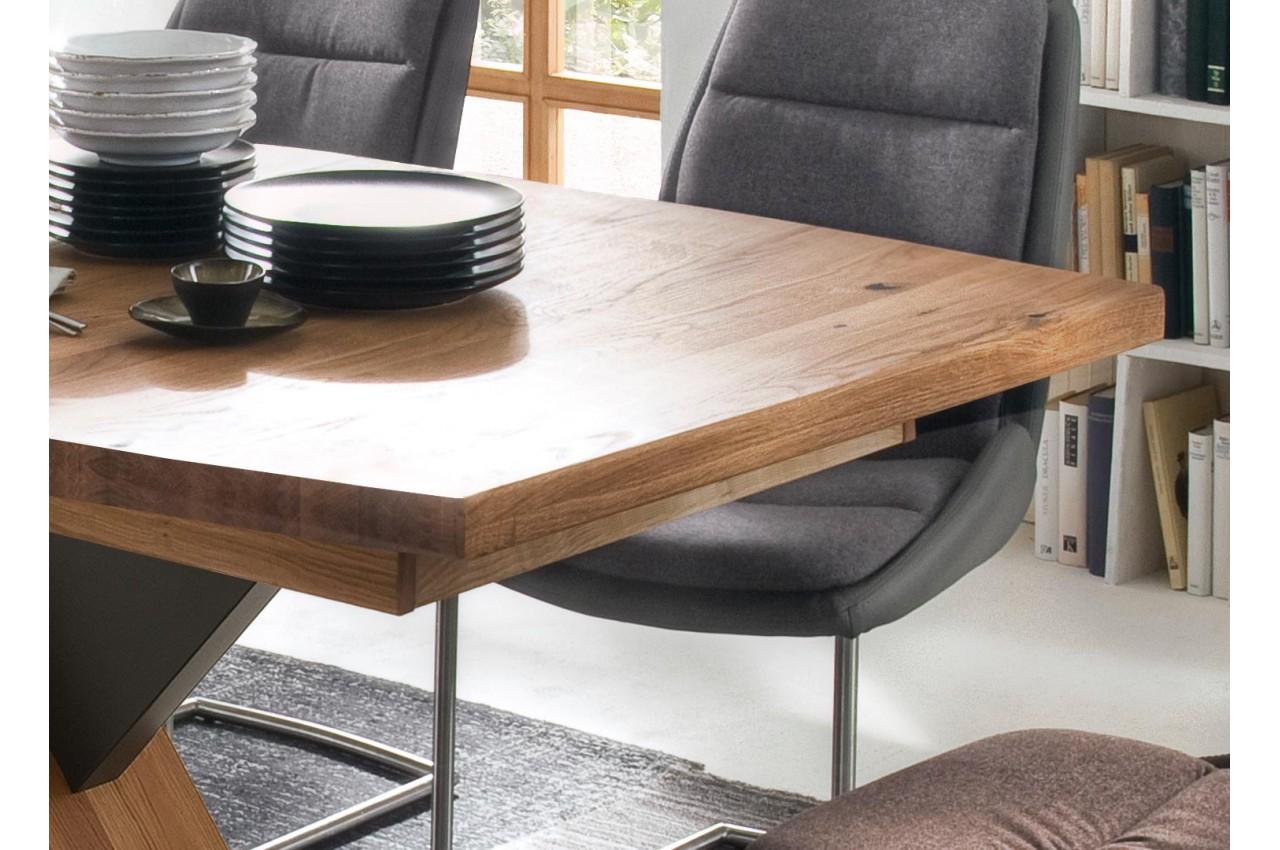 table de salle manger extensible 180 270 cm pour salle manger. Black Bedroom Furniture Sets. Home Design Ideas