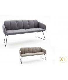 Banquette d'intérieur design avec dossier / Grise ou marron