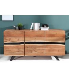 Buffet bois massif et métal 150 cm / Acacia