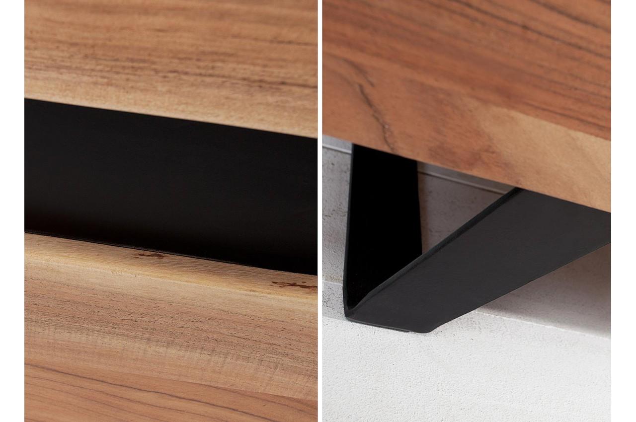 buffet bois massif et m tal 150 cm acacia pour salle. Black Bedroom Furniture Sets. Home Design Ideas