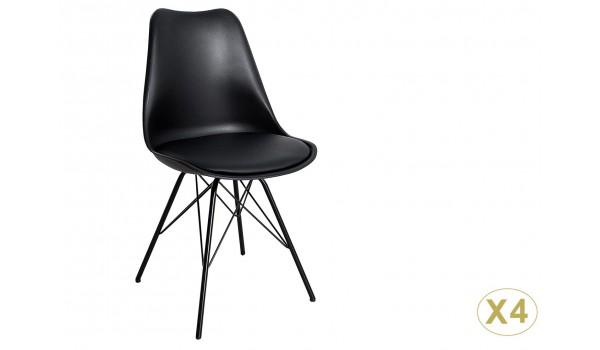 chaise pietement noir