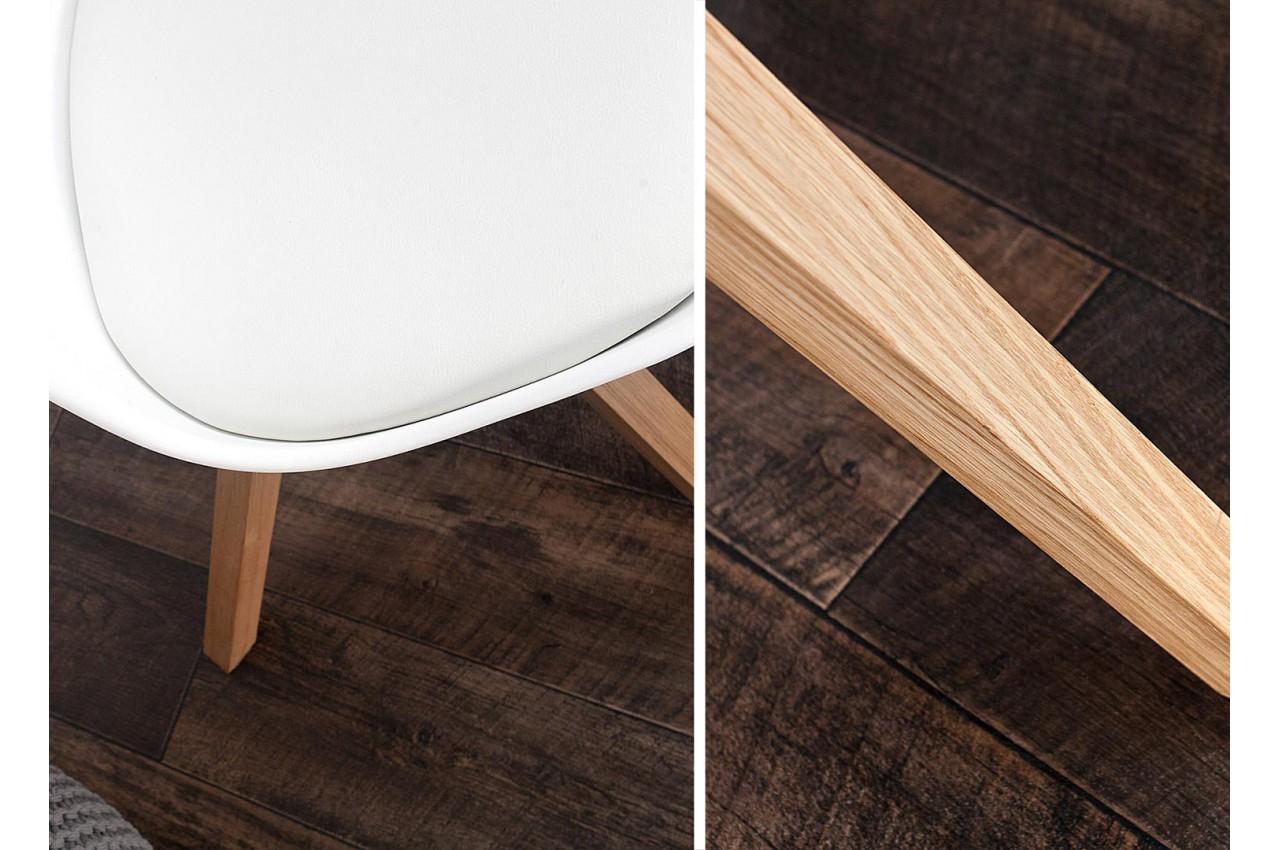 chaise blanche et bois scandinave pas cher pour salle manger. Black Bedroom Furniture Sets. Home Design Ideas